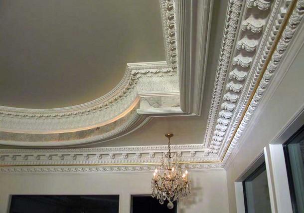 Как сделать потолок из лепнины своими руками 54